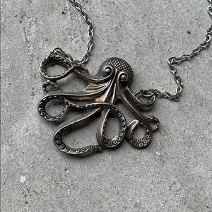Octopus necklace.